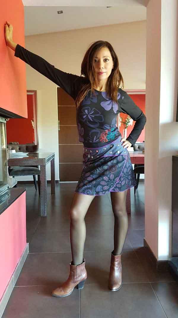 Minifalda de corchetes