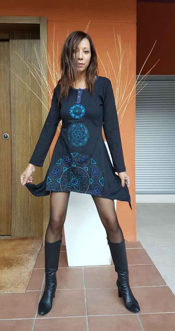 Vestido Picos