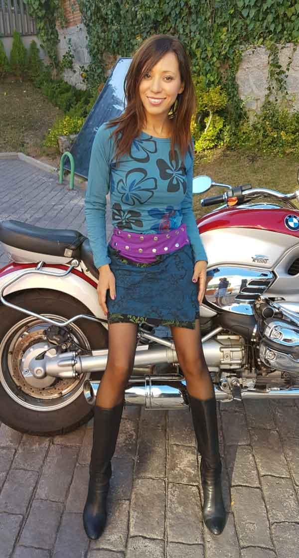 Minifalda corchetes